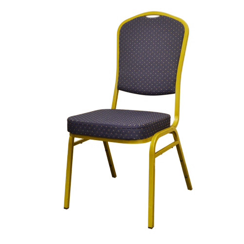 Blue metal banquet chair
