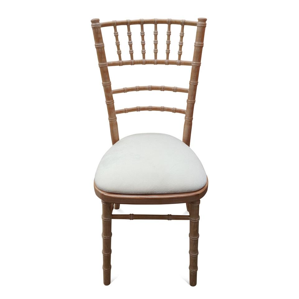 Limewash Chiavari Curved Back Chair