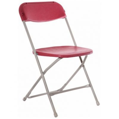 Straigh_Back_Folding_Chair-Red