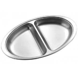 Stainless Steel 2 section Vegetable Dish