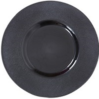 grey smoked charger plate 12In