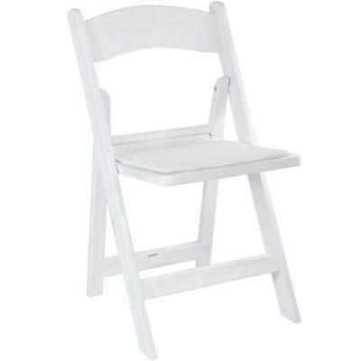 resin folding chair white